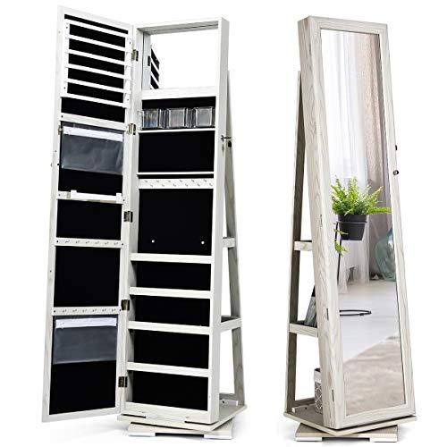 360 Swivel Jewelry Cabinet & Full Length Mirror