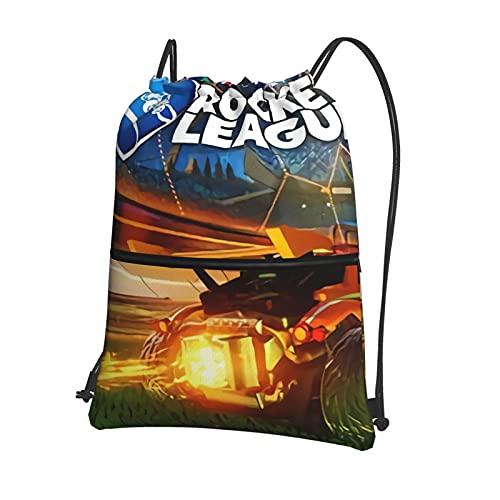 Rocket League bolsa de cordón para adultos impermeable mochila de cuerda de deportes bolsas de gimnasio bolsas ligero bolsa de PE para mujeres hombres