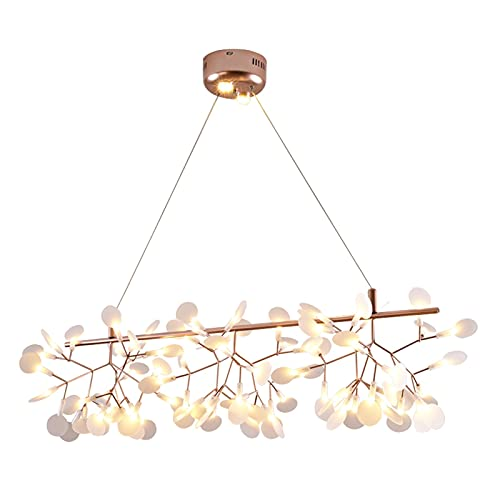 GZXYKJ Colgando Lámpara Firefly nórdica DIRIGIÓ Chandeliers Elegante árbol Rama luz diseñador Creativo Arte hogar Pasillo Dormitorio Colgando iluminaciones (Color : Black, Size : Warm White)