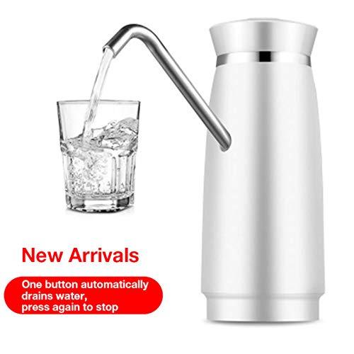 KAR Automatische Qualitäts-Elektrische Bewegliche Wasser-Dispenser Gallon Trinkflasche Schalter Wasserpumpe Getränkespender,Weiß