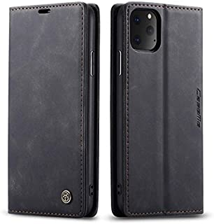 CaseMe for iPhone 11 Wallet Case, Anti-Fall Retro Handmade Leather Magnetic Flip case with Kickstand,Card/Cash Slot for iP...