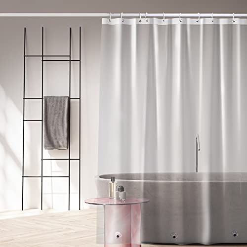 Shower Curtain Liner, Clear 3G Shower Curtain Liners, Non-Toxic Odor Free Plastic Waterproof Shower Curtains, 72x72 inch PEVA Shower Liner with 3 Magnetic Weights and 12 Hooks(3G Lightweight)