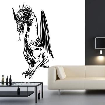 Wandtattoo cooler Drache / Drachen Wandsticker / Dragon DR-074