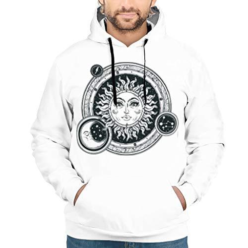 O5KFD & 8 man trui met capuchon Teen Student Logo Retro - Pullover Loose Comfort Jacket