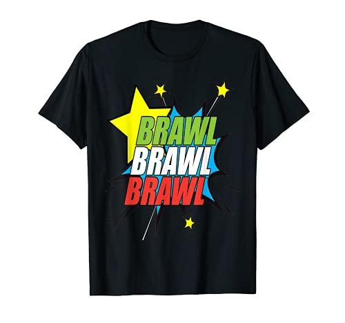 Repetición de pelea y estrellas gráficas Camiseta