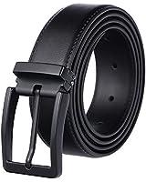 Weifert Men's Dress Belt Black Leather Belts for Jeans (30-32, Black2)