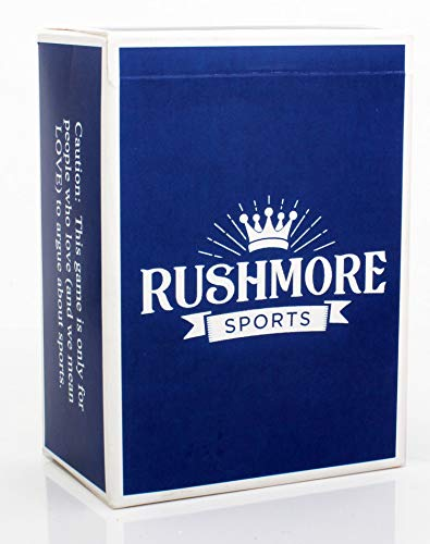 RUSHMORE Card Games - Sports Edition (17+) The Monumental Game of Wits, Lists and Tiffs - Adult Party Game