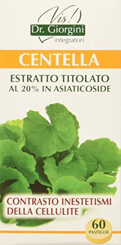 Dr. Giorgini Integratore Alimentare, Monocomponenti Erbe Centella Estratto Titolato al 20% in Asiaticoside Pastiglie - 30 g