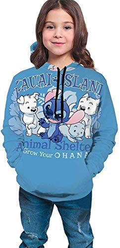 piuwefds Lilo and Stitch Cute Dogs Teen Girls Boys Hoodie Pullover Sweatshirt