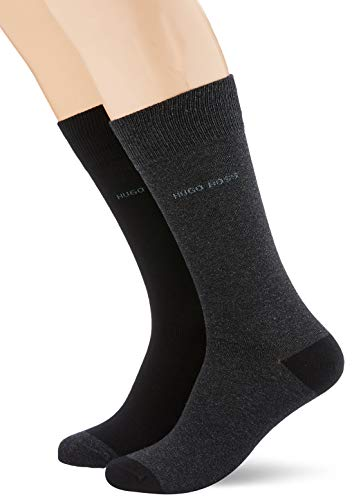BOSS Herren 2P RS HeelundToe CC Socken, Schwarz (Black 002), 43/46 (Herstellergröße: 43-46) (2er Pack)