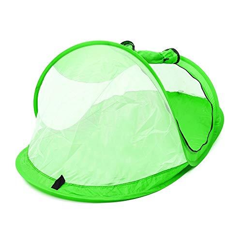 ReedG Campingzelt Tragbare Pop Up Strand-Zelt-Überdachung Sonnenschutz-Schutz Anti-UV-Baby-Spielraum Anti-Moskitonetz Bett (Farbe : Grün, Größe : 108x60x50cm)