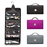 ROYALFAIR Hanging Toiletry Bag with Durable Hook Roll-Up Make Up...
