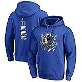 YHIU Camisetas de Baloncesto para Hombre-Dallas Mavericks Luka Doncic # 77 Sudadera con Capucha Sudadera de Uniforme de Baloncesto-M