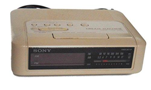 Sony Dream Machine Icf-c240 Digital Alarm Clock Radio Vintage 1980's Am/fm Beige