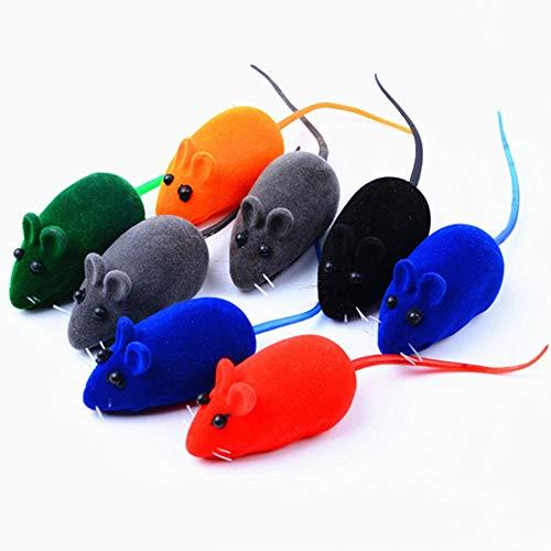 SYXX Nuovi Giocattoli del Gatto di Modo Buffo Gatto Peluche Topolino Piume di Colore Giocattoli Cat Realistico Piccoli Giocattoli Piccola del Gioco del Gatto del Mouse 5 Topi Valore Misto Confezione