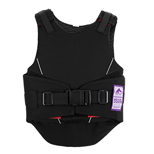 perfk Kinder Reitschutzweste Reitsicherheitsweste, Schutz Kleidung - S