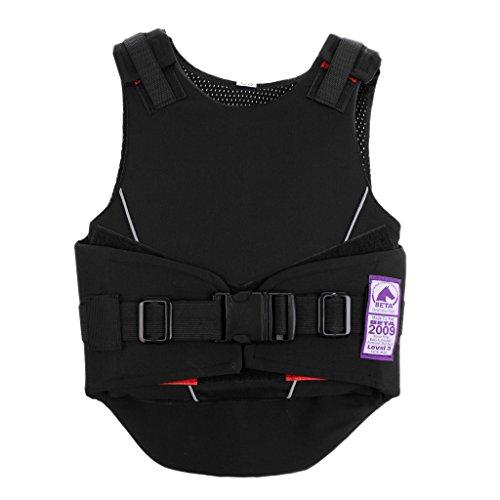Homyl Kinder Jungen Mädchen Sicherheitsweste Schutzweste Körperschutz Reitschutzweste Reiten Sport Schutzausrüstung - S