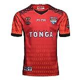 2019-2020 Coupe du Monde de Rugby Tonga Accueil Jersey, Sports d'été Loisirs Respirant Football Polo, d'anniversaire Red.d-M