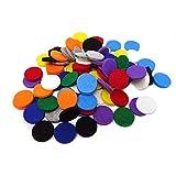 Honbay 100PCS Replacement Felt Pads 22mm Essential Oil Refill Pads for 30mm Locket Necklace Bracelet or Car(0.87inch, 10color) (22mm)