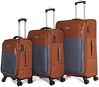 Giordano Luggage Trolley Bags For Unisex 3 Pcs, Brown, 744112