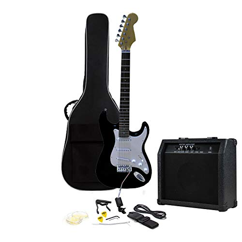 RockJam RJEG01-SK-BK - Kit de guitarra eléctrica
