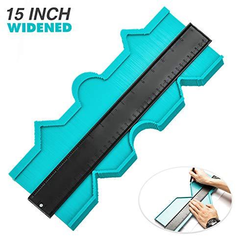 Hiroumer Konturenlehre 15 Zoll/ 38,1 cm, Duplikator Gauge zum Übertragen von Konturen & Schnittverläufen, Ideal für das einfache Abtasten und Übertragen von Schnittverläufen