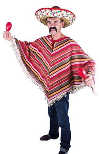 P 'tit Clown 91224Poncho Erwachsene mexikanischen–Einheitsgröße–Mehrfarbig