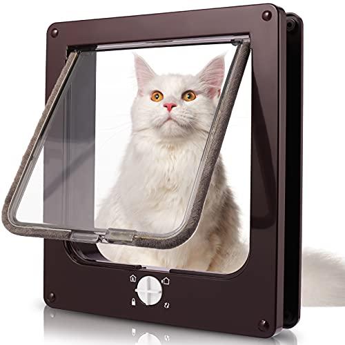 Porta per Gatti e Cani, Porta Schermo per Animali Domestici, Entrata e Uscita Controllabile, Porta Scorrevole per Finestra di Sicurezza per Animale Domestico