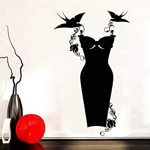 Wandaufkleber Wandbilder Abziehbilder Kleidergeschäft Mode Kleidung Einkaufen Wandaufkleber Kleidergeschäft Dekoration Wohnzimmer Schlafzimmer Wandbild 70X42cm
