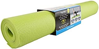 Athletic Works Yoga Mat Lime Green Exercise 68 inches L x 24 inches W x 3 mm…