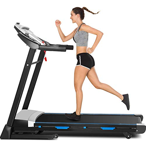 """ANCHEER Treadmill with Auto Incline, 3.25HP, 300 lbs Weight Capacity, 47"""" x 17"""" Wide, Electric Folding Automatic Incline Treadmills for Home Walking Running"""