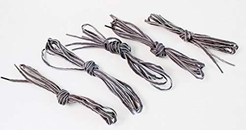 5 x Kanten veters 120cm in grijs paar werkschoenen veiligheidsschoenen