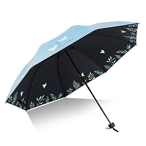 DSAN Paraguas de Viaje a Prueba de Viento,Folding Umbrella,Paraguas Impermeable de Viaje,Paraguas de Viaje Portátil,Paraguas de Viaje Portátil,Paraguas de Sol,Paraguas Plegable Protección UV.