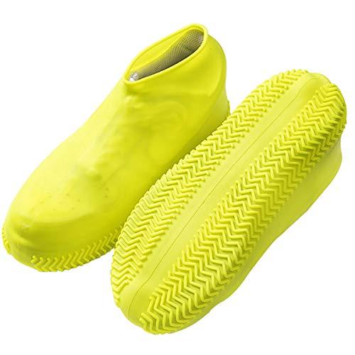 Lesrly-Cycle Cubiertas del Zapato del Resbalón No, Espesado, Inodoro Silicona Fácil De Plegar, Multi-Uso Rainboots Zapatos La Cubierta, Al Aire Libre para Altamente Elástico Impermeable,