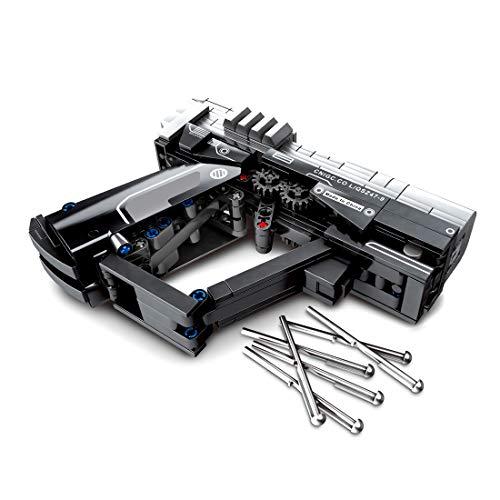 Seasy Technik Gewehr Bausteine Bausatz, 364 Teile Technik Wandering Earth Pistole Modell mit Schussfunktion, Kompatibel mit Lego