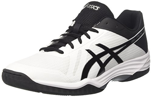 Asics Gel-Tactic, Scarpe Da Tennis Uomo, Bianco (White / Black / Silver), 41.5 EU