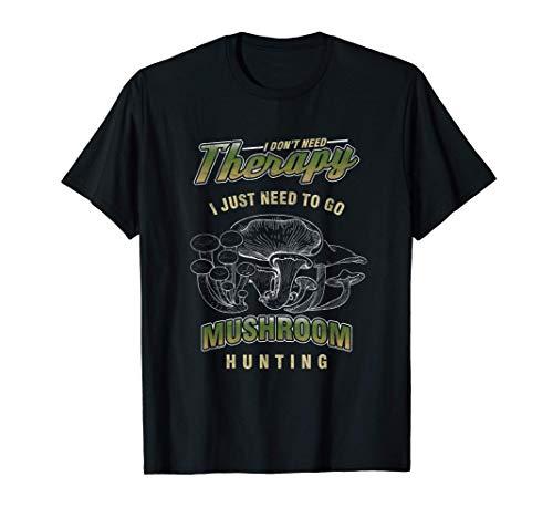 マッシュルームピッカー 狩猟きのこ類 マッシュルーム菌類 シャンテレルポルチーニ プレゼント Tシャツ