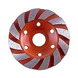 Diamant-Segment Schleifen-Schalen-Rad-Scheibenmahlwerk Granitstein 100mm Vibrationswerkzeug-Zubehör (Größe : 3#)
