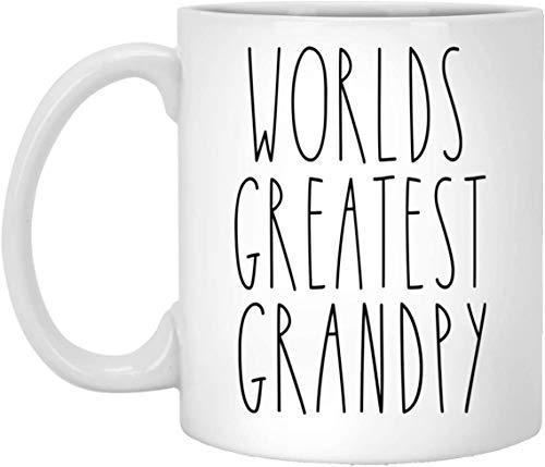 Weltgrößter Grandpy-Akzentbecher Personalisierter Familienakzentbecher Bauernhausgeschenk Muttertags- / Vatertagsgeschenk für Grandpy-Becher -Weiß - 11 OZ