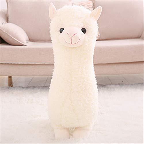 GLITZFAS Alpaka Stofftier Plüschtier, süße weiche Kuscheltier plüsch Pferd Spielzeug (Weiß,28 cm)
