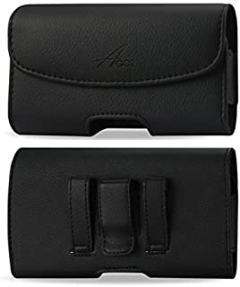 AGOZ Jitterbug Smart Case, Premium Leather Cell Phone Pouch for Jitterbug SMART2, Jitterbug Smart Seniors Smartphone Holster with Belt Clip & Belt Loops (6 x 3.1 inch)