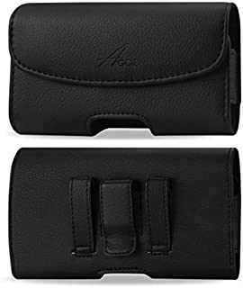 For Motorola Moto G5 Plus, Moto G5S Plus, Moto G4 Plus, Moto G6, G6 Play, G6 Plus, Moto G7, Moto G7 Plus, G7 Play, Motorola One, One Zoom, Premium Leather AGOZ Pouch Case Holster Belt Clip and Loops