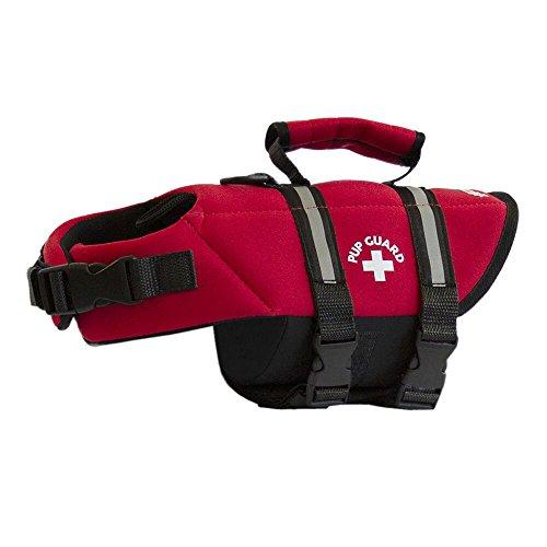 Travelin K9 Premium Red Neoprene Dog Life Jacket, Reflective, Bouyant (X-Small 15-19' Chest)