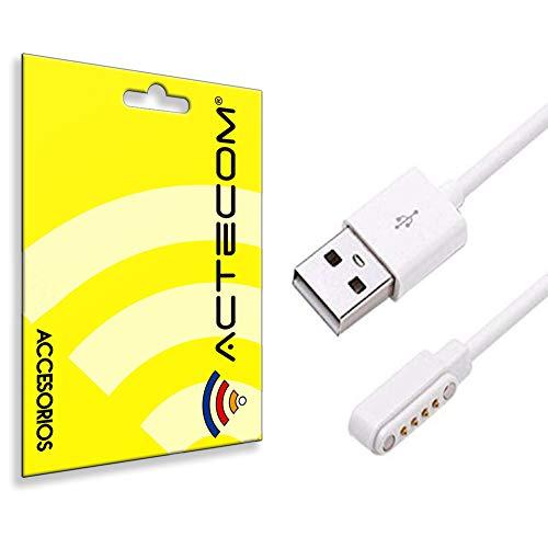ACTECOM Cable de carga USB Reloj Inteligente Conector magnético 4 Pines