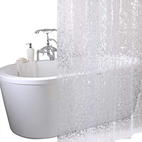 ANSIO Duschvorhang, schimmelresistent, 180 x 180 cm, 100% Eva, Weiß