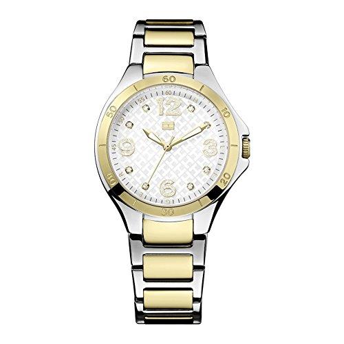 Tommy Hilfiger 1781315 - Reloj analógico de Cuarzo para Mujer, Correa de Acero Inoxidable Color Plateado