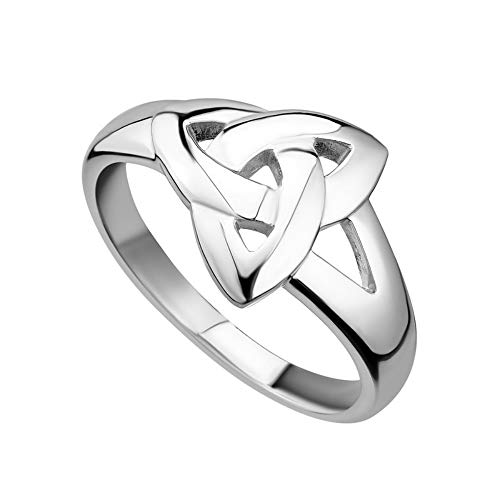 Solvar Womens Trinity Knot Ring Sterling Silver Made in Ireland Size 8