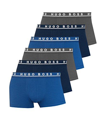 Hugo Boss Herren Boxershorts Unterhosen 10146061 50325403 6er Pack, Wäschegröße:L;Artikel:-487 Open Blue
