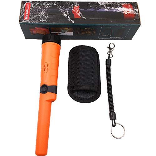 XALO Wasserdichtes Metalldetektor, Leicht Hand Pinpointer Metalldetektor Finds Buried Treasure Bis zu 10 Metern unter Wasser, hohe Empfindlichkeit Schatzsucher präzise Positionierung,Orange