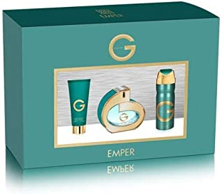Emper G Pour Femme Gift Set For Women Perfume with Deodorant and Cream, 3 Pieces